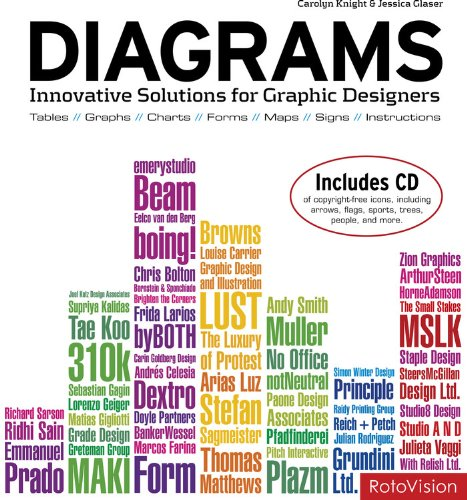 Jessica Glaser『Diagrams: Innovative Solutions for Graphic Designers』の表紙イメージ
